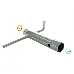 Bougie - clef a bougie - Hexa 16/21 mm - (lg 130mm)