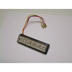 Led - Feux Stop incolore - 25x95mm - Catadioptre a coller